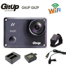 Gitup Git2P Pro Wireless WiFi 2K Helemet Sports Camera DV+RC+Mic+Charger+Battery