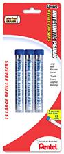 Pentel Eraser Refills For Mechanical Pencils Pack Of 15 Pde1bp3 K6no Tax