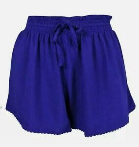 BNWOT M&S Silky Feel Blue Shorts size 14