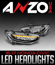 Anzo USA 121527 Projector Headlight Set Fits 16-17 Civic