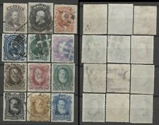 """No: 77756 - BRAZIL - """"PEDRO"""" - LOT OF 12 OLD STAMPS - USED!!"""