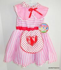 New Lalaloopsy Girls Dress Up Play Costume Crumbs Sugar Cookie Size 4-6 Pink