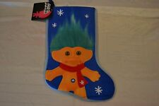 """Good Luck Troll 18"""" Christmas Stocking By Prima Creations Color: Blue New W/Tag!"""