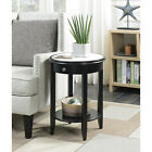 American Heritage Baldwin End Table With Drawer Black