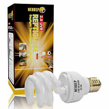Reptile Compact Fluorescent Vivarium Lamp Light 2.0 UVB UVA UV 13W ES Screw