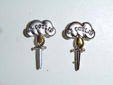 B8815p WW2 Canadian Parachute Paratrooper Collar badges Ex Coelis Canada