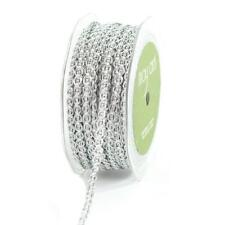 May Arts 6mm Metallic Chain Ribbon - 2m Silver 348-14-31