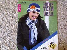 Leisure Arts CROCHET HOME TEAM GEAR hat / scarf pattern book