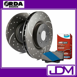FORD MAVERICK - RDA Rear SLOTTED Discs & BENDIX 4WD PADS