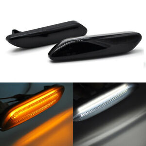 2x Dual color LED Side Marker DRL Light For BMW Mini Cooper Countryman R60 R61