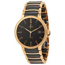 Rado Centrix Automatic Rose Gold and Black Ceramic Mens Watch R30953152