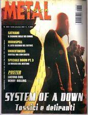 METAL SHOCK N°343/2001 SYSTEM OF A DOWN SATRIANI MOONSPELL UNDERTAKERS