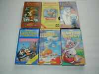 KIDS CLASSIC CARTOONS 6 TAPE LOT VHS RARE, OOP, HTF LOT # 9
