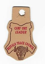 BOY SCOUT  BUFFALO TRACE COUNCIL  CAMP UNIT LEADER   LEATHER PP    IND