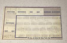 Elton John Concert FULL Ticket Stub Madison Square Garden MSG NYC Unknown 1998