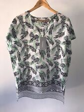 CR Love Sz L (14) Trenery by Country Road Silk Fern Print Top