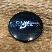 """KRULL 1983 Columbia Pictures Vintage Pinback Button 1.4"""" Peter Yates Sci-Fi Cult"""