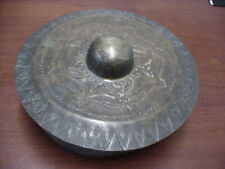 Antique 19c China,South Asia Mindanao Brass Temple Ritual Gong Bell
