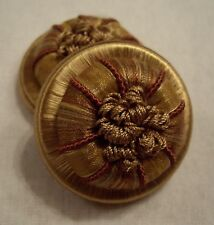 "ONE PAIR COPPER & RUST ""GANACHE"" FRENCH PASSEMENTERIE ROSETTES TRIM"