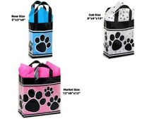 Paw Print 3-Mil Frosted Plastic Gift Bag Only Choose Size & Package Amount