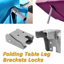 Steel Folding Tables And Benches Leg Brackets Locks In Position Open and Closed
