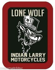 LEATHER INDIAN LARRY MOTORCYCLE JACKET VEST BIKER PATCH HARLEY LONE WOLF NO CLUB
