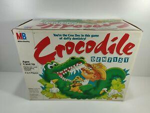 Crocodile Dentist Game Milton Bradley 1990 Complete