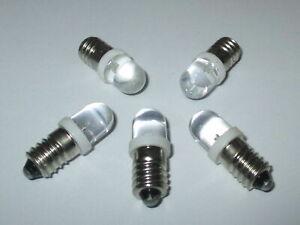 LED Schraubbirne E10 3,5-4,5Volt   5 Stück   -NEU-