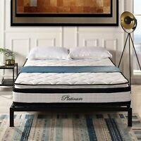"Swiss Ortho Sleep Mattress Hybrid Memory Foam Quilted Pillow Top 13"" Queen Size"