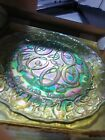Imperial Glass - 12 Days of Christmas Plate Iridescent - 5 Gold Rings