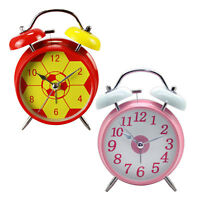 Traditional Quartz Chrome Metal Double Bell Bedside Table Alarm Clock