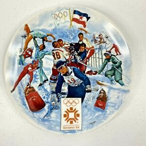 1984 WINTER OLYMPIC GAMES PLATE No. 1892A  Sarajevo, by Viletta Official License