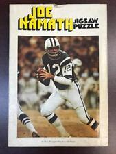 JOE NAMATH NEW YORK JETS RARE VINTAGE 1971 512 PIECE 16x20 JIGSAW PUZZLE USED