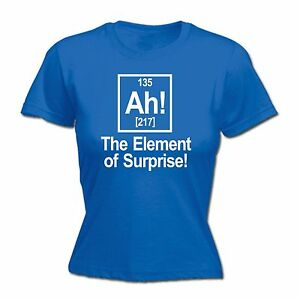 Ah The Element Of Surprise WOMENS T-SHIRT geek funny mothers day present for