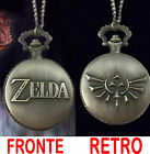 OROLOGIO COLLANA LEGEND OF ZELDA NECKLACE POCKET WATCH HYRULE ROYAL TRIFORCE #1