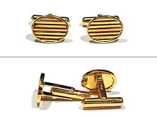 & Rose Gold Cufflinks Solid 14K Yellow Gold