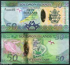 SOLOMON SALOMON ISLANDS 50 dollars 2013  LOW NUMBER Pick new  Hybrid   UNC