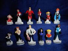 INCREDIBLES Set 12 Mini French Porcelain FEVES Miniature Figurines DISNEY PIXAR