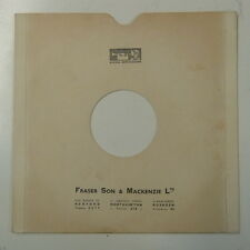 "record sleeve for 78rpm 10"" gramophone disc : FRASER SON & MACKENZIE LTD"