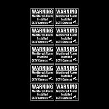 CCTV Window Sticker, Sign Pack of 10 - 75mm x 100mm (A7) - Security - (MISC36)