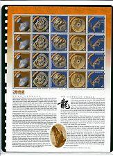 S105 # MALAYSIA SHEETLET - 2000 DRAGON YEAR