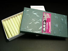 Japanese Traditional 50 Candles; All Handmade 100% vesitable wax (White/7cm)