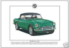 MG MGC (1967-69) - Fine Art Print  A4 size - GT Roadster Convertible Sports Car