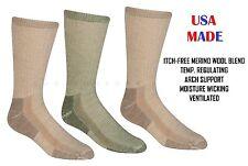 3 Pairs Mens 71% Itch Free MERINO Wool Moisture Wicking Cushioned Crew Socks