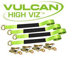 VULCAN Car Tie Down 12' Lasso Strap Wrecker Car Hauler Tow Dolly Reflective
