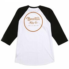 Brixton Wheeler Raglan Baseball Tee T Shirt in White / Burnt Orange Size 2XL XXL