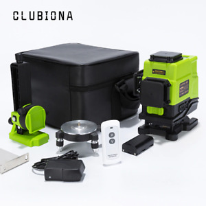 Clubiona 12 Lines Green Beam 360 Rotary Self-Leveling Laser Level 3D Horizontal