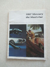 1967 Ford Mercury Cougar Comet 202 Marquis Brougham advertising booklet