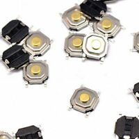100PCS 4×4×1.6mm Tact Tactile Push Button Switch Waterproof copper head SMD-4P