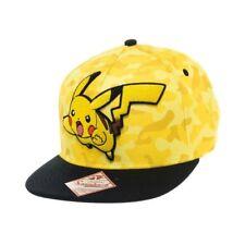SB21PCPOK Pokemon Unisex Pikachu Camouflage Snapback Baseball Cap One Size YEL